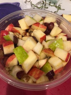 Apple, Pear & Grape Salad No Mayo